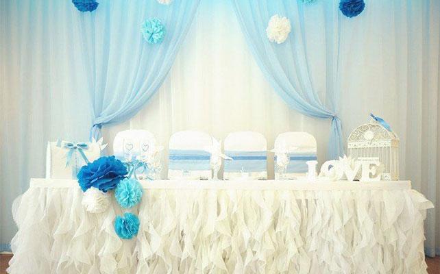 Свадебная юбка на стол