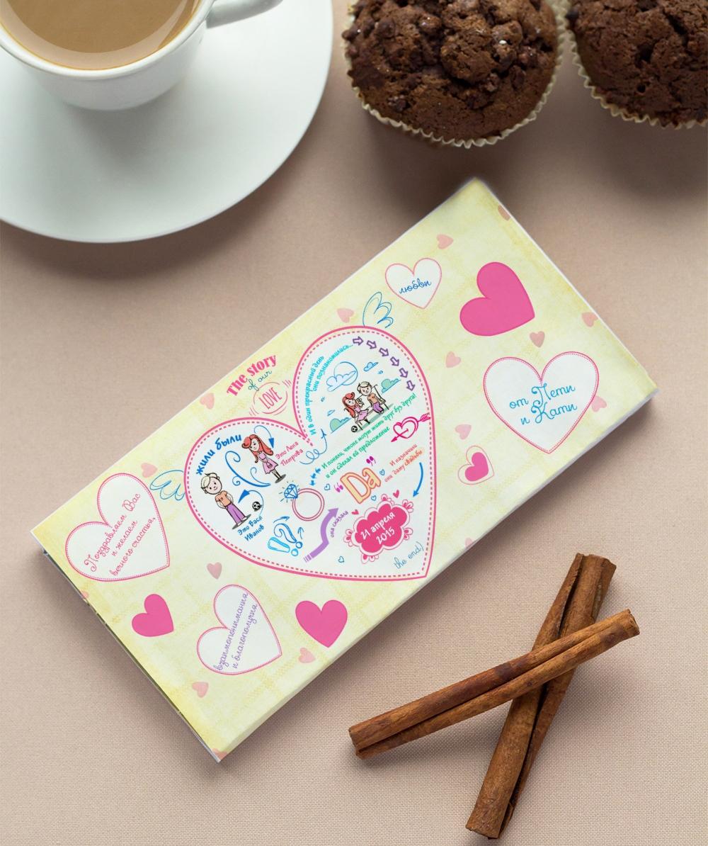Открытка оригинальная с шоколадкой, месяцев мальчику