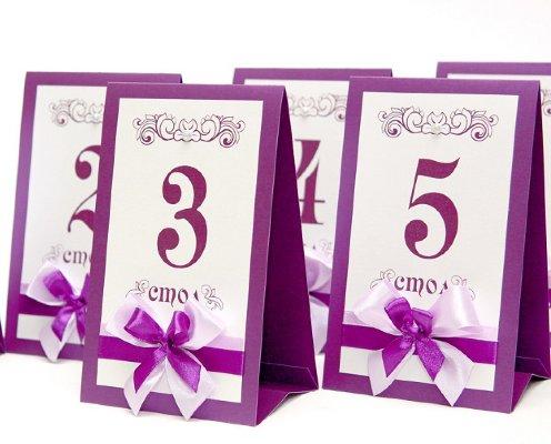 Как сделать номера для столов на свадьбу