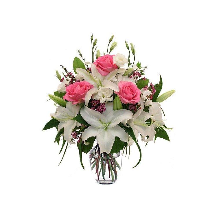 Букеты с лилией и розами, магазинов цветов метро