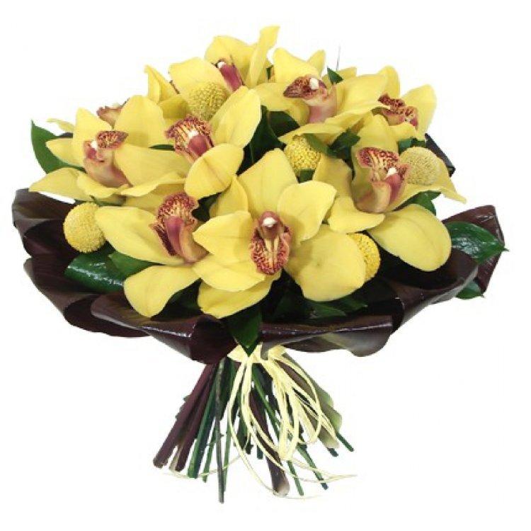 Купить цветы, букет из 3 орхидей цена харьков