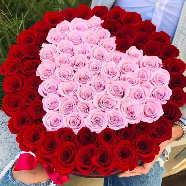 Букет роз сердце фото