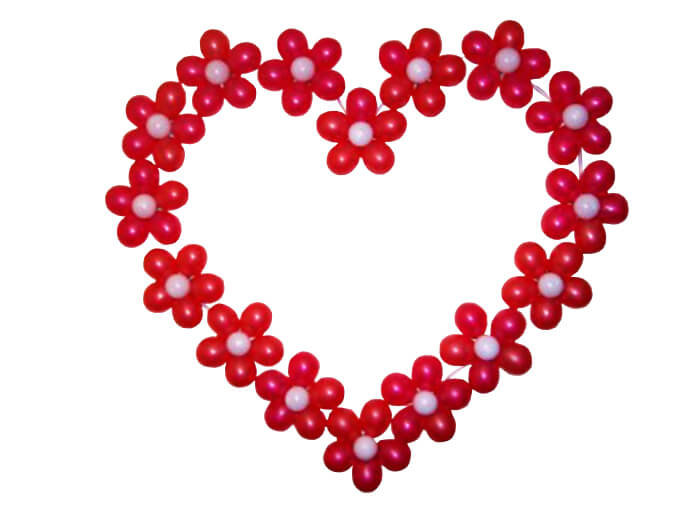 Сердце из шаров своими руками в картинках любителей активного